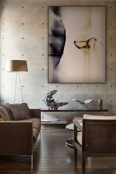 That concrete wall Modern art Painting, Antonio Ramos Claderon, luxury interior design Interior Exterior, Luxury Interior, Interior Styling, Interior Architecture, Interior Decorating, Luxury Furniture, Furniture Design, Stylish Interior, Decoration Inspiration