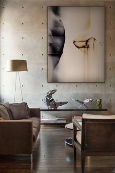 Woonkamer | bank | beton