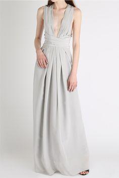 Dresses, Cement Silk Ascendant Gown