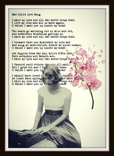 Sylvia Plath ART PRINT Mad Girl's Love Song by vintagemystic