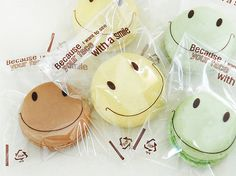 Smile Cookie Transparent Cellophane Bags