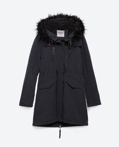 Image 8 of FLEECE LINED PARKA from Zara