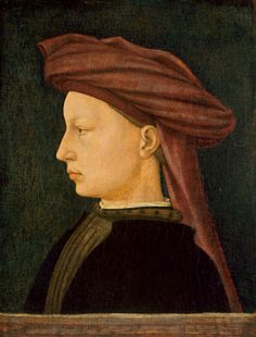 AD 1430-1450 Florentine tempera on pale of Young Man (16 11/16 x 12 13/16 in.) - Smithsonian 1937.1.14