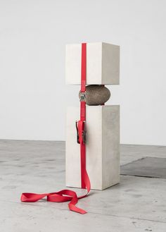 JOSE DÁVILA Joint Effort, 2015 Concrete, stone, ratchet strap 55 1/2 × 15 7/10 × 17 7/10 in