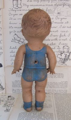 VINTAGE Tod L Tim RUBBER doll from the Sun Rubber Company OHIO. $14.00, via Etsy.