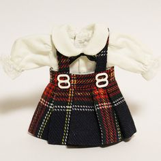 Little Ladies  Set of Checker Pattern Dress for BJD Dolls by dollb, $24.99