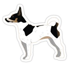Rat Terrier Basic Dog Breed Silhouette Illustration • Also buy this artwork on stickers, apparel, phone cases, and more.