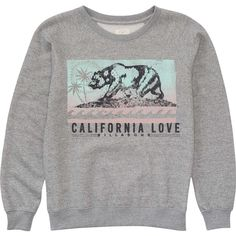 Batik Cali Bear Pullover Crew ($45) ❤ liked on Polyvore featuring tops, t-shirts, short sleeve t shirts, bear t shirt, short sleeve pullover, crew neck t shirt and boyfriend t shirt