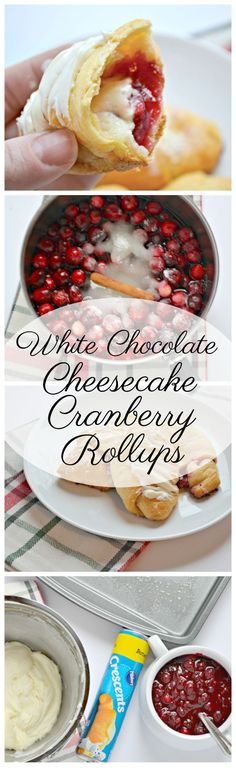 White Chocolate Cheesecake Cranberry Rollups are the PERFECT Thanksgiving dessert!
