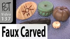 Faux Carved Beads Polymer Clay Tutorial (Intro Vol-019-4)