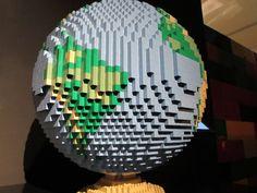 The Earth. Art work by Nathan Sawaya -- all made from LEGO bricks! Lego Brick, Bricks, Art Work, Earth, Home Decor, Artwork, Lego Blocks, Work Of Art, Decoration Home