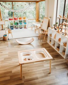 35 Favorite Playroom Design Ideas Must Have For Tiny Spaces - Having a kids playroom has many benefits. To begin with, you'll have a charming and pleasant environment where your little one may spend most of the t. Modern Playroom, Playroom Design, Playroom Decor, Playroom Ideas, Toddler Playroom, Office Decor, Children Playroom, Daycare Design, Toddler Toys