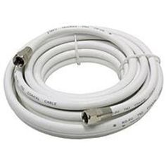 GE 33316 15.0 feet RG6 Coaxial Cable - White