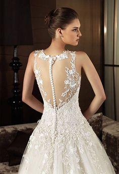 c31a5b0b44fdf Backless with Lace Wedding Dress ブライダルドレス
