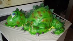 3D dinosaur Cake all hand carved!