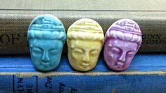 Porcelain Buddha Cabochons.
