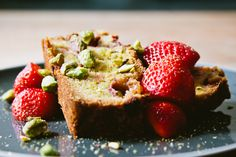 london bakes   strawberry and pistachio loaf - (gluten free).