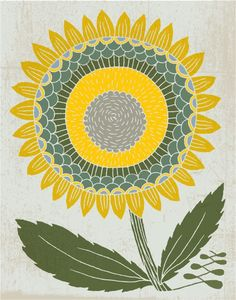 fall sunflower, print by spreadthelove
