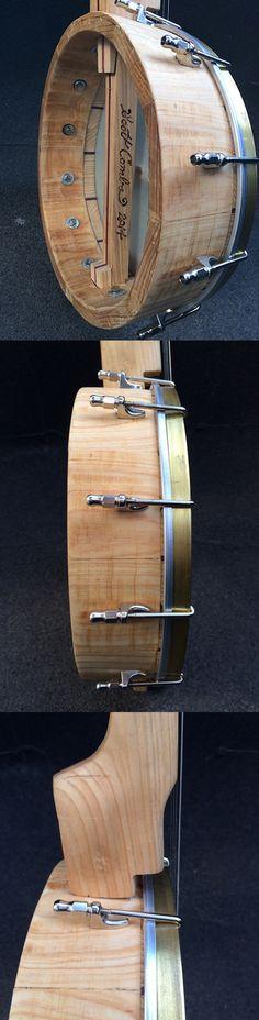 B2-2014 Ring Detail. Cypress and Purple Heart Banjo. PoppaMack Banjos.
