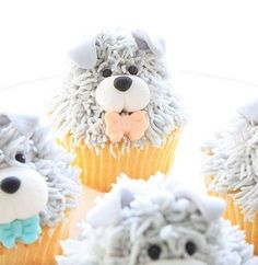 Cupcakes lindos de cachorrinhos, adorei! #regram @cake_story.ru  #kikidsparty