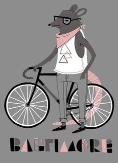 Hipster animal