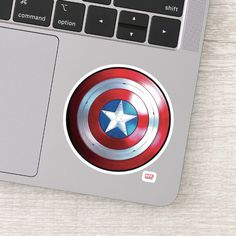 The Falcon And The Winter Soldier   Check out this badge of Captain America's Star Shield! Personalized Stickers, Custom Stickers, Captain America Star, Design Your Own Stickers, Disney Plus, Vinyl Sheets, Cool Stickers, Decorated Water Bottles, White Ink