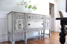 RARE Antique Ornate Carved Jacobean Hand by ErikaSzilvaiDesign Solid Wood Sideboard, Sideboard Cabinet, Cabinet Doors, Restoration Hardware, Distressed Texture, Antique Cabinets, Old World Style, Cabinet Styles, Rare Antique