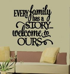 Personalized Wall Decal Family  Vinyl Lettering by 2VinylDivas, $25.00