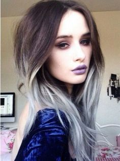Gray ombre hair color DIY 2015 summer