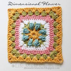 Dimensional Flower by Rhonda Rowley - Pattern in Ravelry <3