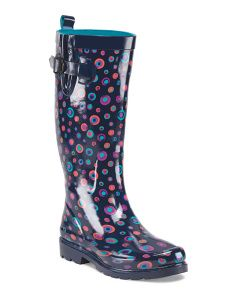 image of Shiny Painted Marble Rain Boot