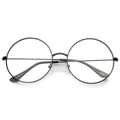 Description Measurements Shipping A classic piece that can be worn from season to season, these round eyeglasses are designed with a slim metal frame and temples for a minimal look. With it's oversize shape and clear round flat lenses, these sophisticated glasses offer a lightweight feel that's great for everyday wear. Made with a metal based frame, English style nose pieces, metal hinges, and polycarbonate UV400 clear lenses. Lens Width: 56mm Nose Bridge: 19mm Lens Height: 56mm Total Width: 143 Round Lens Sunglasses, Cute Sunglasses, Round Eyeglasses, Sunglasses Women, Vintage Sunglasses, Clear Aviator Glasses, Fake Glasses, New Glasses, Stylish Glasses For Women