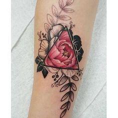 coolTop Geometric Tattoo - Geometric floral tattoo by Jessy D'Auria tattoos...