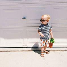 キッズ kidsfashion 夏スタイル トレンドコーデ キッズファッション インスタキッズ パイナップル