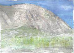 Mountain Montgo in Javea / Spain (acrylic en relief on paper - 16/06/14)