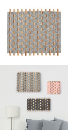 Weave a little inspiration into your home. Our Loomed Wall Art features wooden dowels woven through heathered felt in a light gray hue. This creative piece is made with keyhole mounts on its back plate... Find the Loomed Wall Art in Gray, as seen in the Handwoven Bohemian Home Collection at http://dotandbo.com/collections/handwoven-bohemian-home?utm_source=pinterest&utm_medium=organic&db_sku=129621