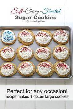patriotic frosted sugar cookies @createdbydiane
