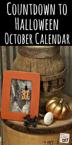 This cheap Halloween October calendar is the perfect Halloween decoration for…