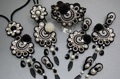 "Soutache Collection "" Black and White Movie "" 
