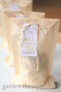 thé pour le bain maison cadeau DIY beauté