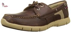 Sebago Kinsley Two Eye, Chaussures Bateau Homme, Marron (Dk Brown Leather), 41 EU - Chaussures sebago (*Partner-Link)