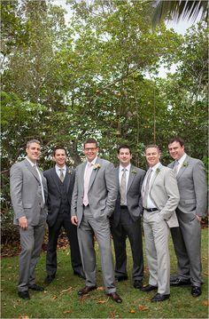 Intimate Classy Destination Wedding groomsmen looks<br> Intimate Classy Destination Wedding photographed by Jennifer Schartner of Captured Photography. Mismatched Groomsmen, Gray Groomsmen Suits, Groomsmen Looks, Bridesmaids And Groomsmen, Navy Suits, Groomsman Attire, Groom Attire, Groom Suits, Mens Attire