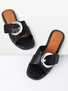 Shop Cross Buckle Design Slip On Sandals online. SheIn offers Cross Buckle Design Slip On Sandals & more to fit your fashionable needs.