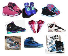"""All Jordans Shoes"" by shuntavia02 ❤ liked on Polyvore featuring interior, interiors, interior design, home, home decor, interior decorating, NIKE and Retrò"