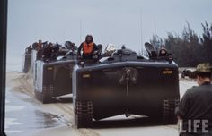 This series was taken by Larry Burrows on March when BLT Marines landed on RED Beach at Da Nang: Vietnam History, Vietnam War Photos, Military News, Military History, Military Service, Amphibious Vehicle, Red Beach, Vietnam Veterans, Armored Vehicles