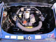 1969 Porsche 912 Targa engine compartment