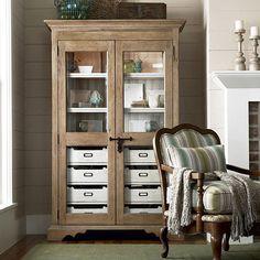 Love this glass-door pantry