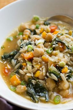 Chickpea Stew With Orzo and Mustard Greens Recipe - NYT Cooking
