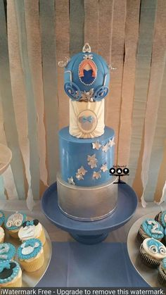 Lovely cake at a Minnie Mouse Cinderella birthday party! See more party ideas at CatchMyParty.com!