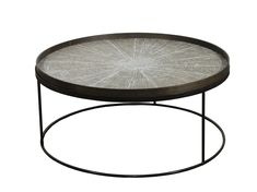 Round coffee table with tray ROUND TRAY TABLE LOW XL by Notre Monde